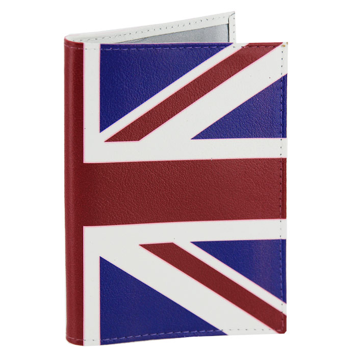 Обложка для паспорта Британский флаг. OK031BR530Обложка для паспорта, выполненная из натуральной кожи, оформлена изображением британского флага. Такая обложка не только поможет сохранить внешний вид ваших документов и защитит их от повреждений, но и станет стильным аксессуаром, идеально подходящим вашему образу. Яркая и оригинальная обложка подчеркнет вашу индивидуальность и изысканный вкус. Обложка для паспорта стильного дизайна может быть достойным и оригинальным подарком. Характеристики: Материал: натуральная кожа, пластик. Размер (в сложенном виде): 9,5 см х 14 см. Производитель:Россия. Артикул:OK31.