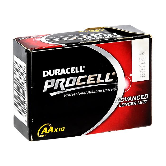 Набор алкалиновых батареек Duracell Procell, тип AA, 10 шт38684Набор алкалиновых батареек Duracell Procell предназначен для использования в различных электронных устройствах небольшого размера, например в пультах дистанционного управления, портативных MP3-плеерах, фотоаппаратах, различных беспроводных устройствах. Характеристики:Тип элемента питания: AA (LR6). Тип электролита: щелочной. Выходное напряжение: 1,5 В. Комплектация: 10 шт. Размер упаковки:7 см х 3 см х 5 см. Изготовитель:Бельгия.