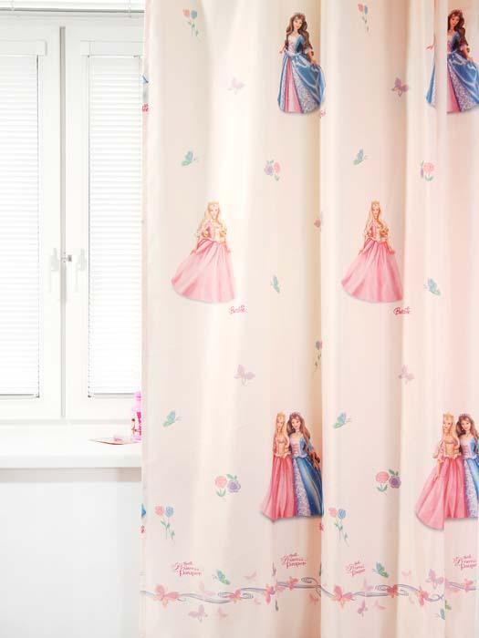 Портьера TAC Барби. Принцесса и Нищенка, цвет: персиковый, 200 х 265 см tac портьера детская 200см х 265см персиковый