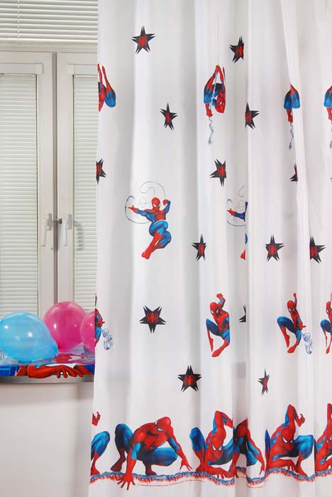 Портьера TAC Spider-Man, цвет: белый, 200 х 265 см711147Портьера TAC Spider-Man изготовлена из плотного полиэстера белого цвета и шита на универсальной шторной ленте.Портьера TAC Spider-Man осуществит заветную мечту вашего ребенка окунуться в волшебный мир сказок, а любимые персонажи создадут атмосферу уюта для вашего малыша. Полиэстер - вид ткани, состоящий из полиэфирных волокон. Ткани из полиэстера - легкие, прочные и износостойкие. Такие изделия не требуют специального ухода, не пылятся и почти не мнутся. Характеристики: Материал: 100% полиэстер. Цвет: белый. Размер (Ш х В): 200 см х 265 см. Изготовитель: Россия. Артикул: GS0442.