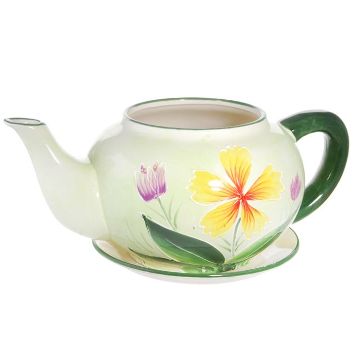 Горшок для цветов, с поддоном. XY10S012BМ 8528Горшок для цветов, изготовленный из керамики, выполнен в виде заварочного чайника, который предназначен для установки внутрь растения.Горшок, оформленный яркими красками, обладает долговечностью и износостойкостью. Это изделие не потеряет яркости красок и четкости форм даже после длительной эксплуатации. Горшок для цветов часто становится последним штрихом, который совершенно изменяет интерьер помещения или ландшафтный дизайн сада. Благодаря такому горшку вы сможете украсить вашу комнату, офис, сад и другие места. Характеристики:Материал: керамика. Диаметр отверстия для цветов:14 см. Максимальный диаметр горшка (без учета ручки и носика):22 см. Высота горшка:16,5 см. Диаметр поддона:23 см. Размер упаковки:32 см х 19 см х 26 см. Изготовитель:Китай. Артикул:XY10S012B.