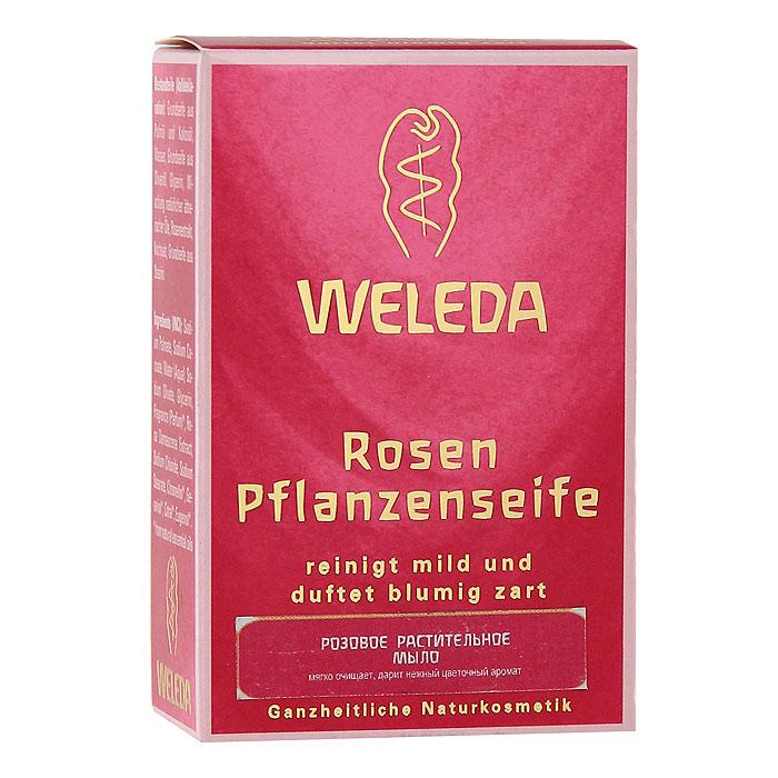 Мыло растительное Weleda Rosen, 100 гDB4010(DB4.510)/голубой/розовыйРозовое растительное мыло Weleda Rosen содержит ценное масло в сочетании с другими ценными эфирными маслами. Дарит нежный аромат розы. Прекрасно подходит для нежного очищения рук, лица и тела. Рекомендуется для чувствительной и истощенной от частого мытья кожи. Образует нежную, как крем, пену. Не содержит искусственных красителей, консервантов и сырья на основе минеральных масел. 100% натуральный состав. Характеристики:Вес: 100 г. Размер упаковки: 8,5 см х 5,5 см х 3 см. Производитель: Германия. Артикул: 9883. Товар сертифицирован.