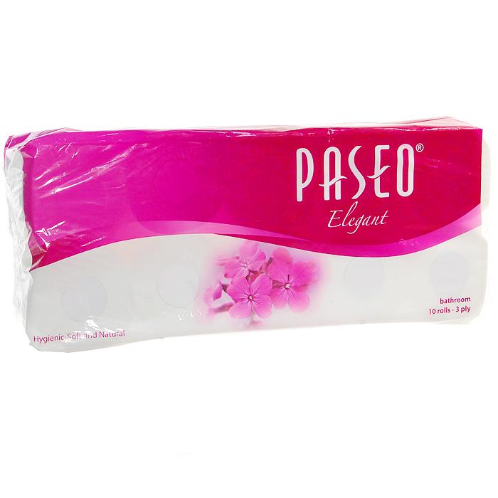 Туалетная бумага Paseo Elegant, трехслойная, 10 рулонов авто paseo в хабаровске