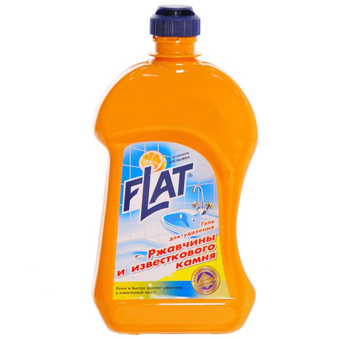 Гель Flat для удаления ржавчины и известкового камня, с ароматом апельсина, 500 г391602Гель Flat эффективно удаляет известковый налет, ржавчину, а также жировые пятна, мыльные осадки и другие загрязнения. Вязкая консистенция средства позволяет использовать его на вертикальных и труднодоступных поверхностях. Подходит для чистки унитазов, раковин, хромированных поверхностей. Обладает приятным ароматом апельсина. Характеристики:Вес: 500 г. Производитель: Россия.