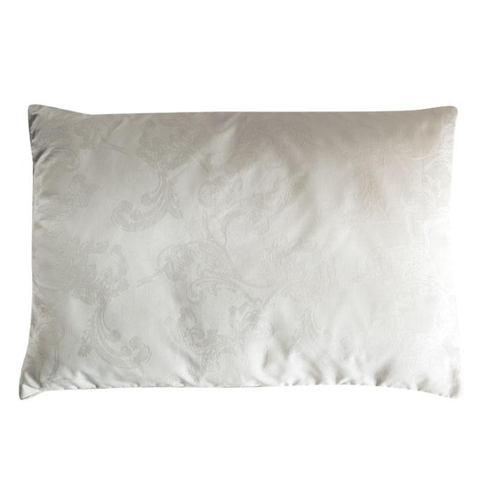 Подушка детская Fani, 40 х 60 см531-105Детская подушка Fani изготовлена из белого итальянского сатина с жаккардовым рисунком с наполнителем из легчайшего кашемира (подшерстка горных коз). По краям подушка украшена атласной окантовкой. Шерсть кашемира очень мягкая и легкая. Наполнитель отлично регулирует температуру во время сна. Изделия с кашемиром активно дышат, имея очень высокие показатели воздухопроницаемости. Вашему ребенку будет комфортно спать в любое время года. Характеристики:Материал чехла: сатин, жаккард (100% хлопок). Наполнитель: кашемир (100% шерсть), вискоза. Размер: 40 см х 60 см. Изготовитель: Россия. Артикул: 1131107306-10.