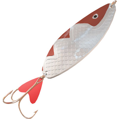 Блесна Aqua Спинка, длина 6 см, вес 22 г. 0340-11-22-03Блесна Aqua Спинка - это универсальная колеблющаяся блесна классического стиля. Оптимальный выбор цвета и размера для любых водоемов. Блесна - искусственная приманка для ловли рыбы в виде металлической пластинки, которая снабжена одним или несколькими рыболовными крючками. Имеет отверстие для крепления к леске. Зачастую крючок дополнительно маскируется перьями или пластиковой пластинкой. Обычно блесна имитирует рыбку, реже - другое живое существо (насекомое, пиявку, лягушку, мышь). Для описания движения блесны в толще воды на языке рыболовов используется термин игра. На открытой воде блесны чаще всего используются при ловле спиннингом или при буксировке снасти плавсредством (троллинг, дорожка). Характеристики:Материал: металл, пластик. Длина: 6 см. Вес: 22 г. Цвет тела: 03 (серебро, красный металлик). Длина крючка: 2 см. Номер крючка: 1. Хвост: цветной, фигурный. Размер упаковки: 15 см х 3 см х 2 см. Производитель: Россия. Артикул: 40-11-22-03.