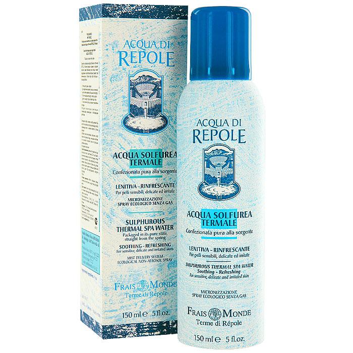 Сернистая термальная вода-спрей Frais Monde Acqua Di Repole, для всех типов кожи, 150 мл857290Сернистая термальная вода-спрей Frais Monde Acqua Di Repole из источника Repole (Италия) прекрасно освежит и увлажнит кожу во время пребывания на солнце, снимет раздражение чувствительной кожи, поможет при лечении акне, успокоит кожу после эпиляции и процедуры бритья, подойдет для ухода за нежной детской кожей. Обладает увлажняющим, смягчающим, тонизирующим, освежающим и успокаивающим действием. Благодаря особой системе разбрызгивания dы ощутите на своей коже россыпь мельчайших капель освежающей влаги, а макияж останется в полном порядке! Особая технология упаковки исключает контакт сернистой термальной воды с внешними агентами, что позволяет сохранить все ее природные целебные свойства. Не содержит пропеллент. Способ применения: распылить термальную воду на лицо или тело с расстояния 20-30 см, оставить на некоторое время до полного впитывания, остатки аккуратно промокнуть сухой салфеткой. Для снятия макияжа - обильно распылить спрей на лицо, затем аккуратно удалить макияж с помощью салфетки или ватного диска. При необходимости повторить процедуру. Характеристики:Объем: 150 мл. Производитель: Италия.Итальянская компанияISMEG Srlпоявилась, благодаря принадлежащему ей термальному источнику, богатому серой. Компания придерживается традиции производства высококачественной продукции, ее миссия - обновлять производство, но сохранять естественные неповрежденные формулы. Компанию отличают глубокие исследования в области косметики и страсть к развитию природных ресурсов.Товар сертифицирован.