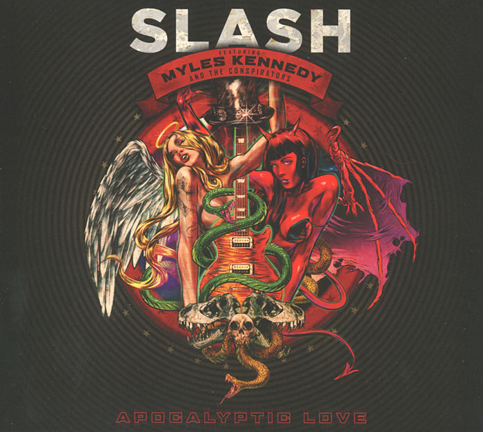 Slash,Майлс Кеннеди,The Conspirators Slash Featuring Myles Kennedy & The Conspirators. Apocalyptic Love (CD + DVD) pantera pantera reinventing hell the best of pantera cd dvd