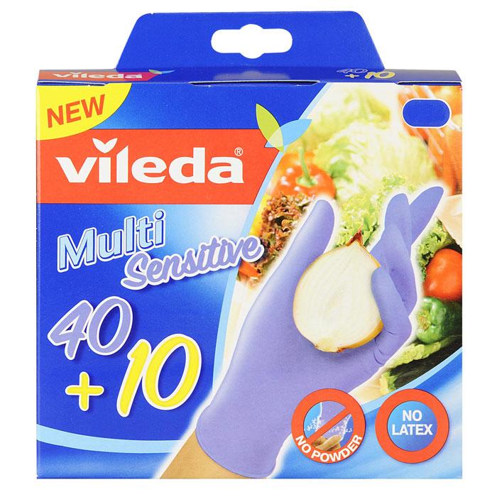 Перчатки одноразовые Vileda, 50 шт. Размер M/L531-105Одноразовые перчатки Vileda выполнены из нитрила с внутренним хлопковым напылением. Они не вызывают аллергических реакций на протеин латекса. Перчатки без пропиток и отдушек рекомендованы для приготовления пищи, а также любых хозяйственных работ. Каждая перчатка подходит для левой и правой руки. Идеально облегают руку и сохраняют чувствительность пальцев.