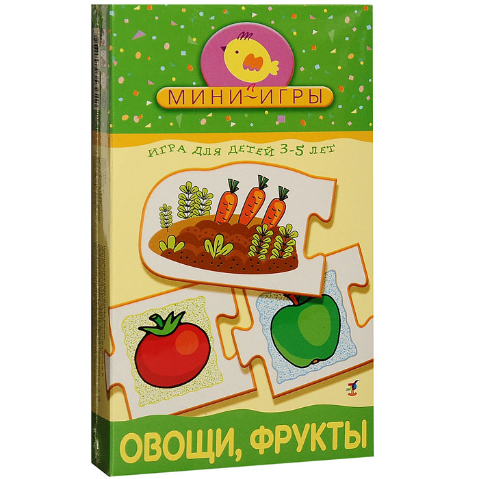 """Развивающая мини-игра """"Овощи, фрукты"""" в игровой форме познакомит вашего малыша с различными группами растений: овощами, фруктами, цветами. Также игра научит ребенка объединять различные виды растений в группы и называть эти группы обобщающими словами - цветы, овощи, фрукты, ягоды. Игра предлагает два варианта мини-игр """"Группы растений"""" и """"Собери по цвету"""". Комплект игры включает 20 карточек с изображением овощей, фруктов, ягод и цветов и подробные правила игры на русском языке. Игра способствует развитию мелкой моторики рук, обучает ребенка самостоятельно рассуждать, сопоставлять, сравнивать и анализировать."""