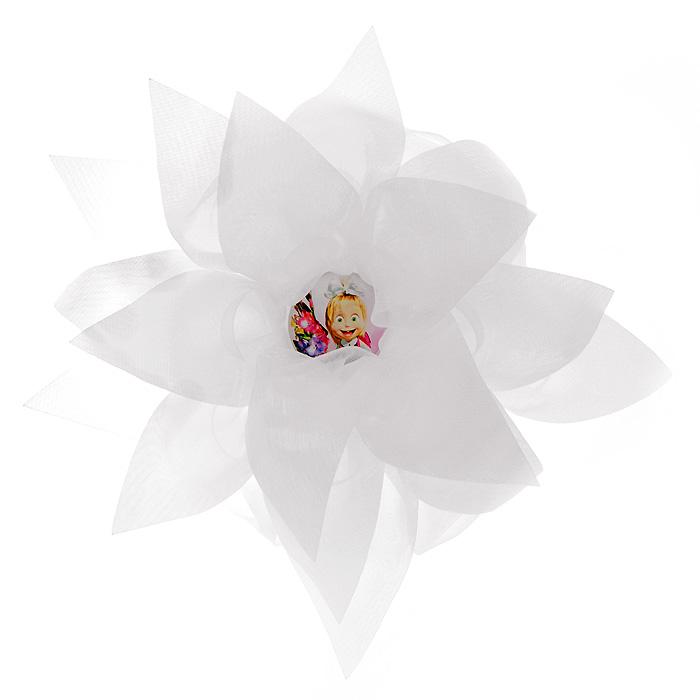Резинка для волос Цветок, цвет: белый956037Резинка для волос Цветок подчеркнет красоту прически вашей маленькой модницы. Резинка выполнена в виде большого белого цветка, украшенного посередине вставкой с изображением Маши, героини мультсериала Маша и Медведь.Характеристики: Материал: резинка, текстиль. Диаметр цветка: 17 см. Цвет: белый. Не рекомендуется детям до 3-х лет.