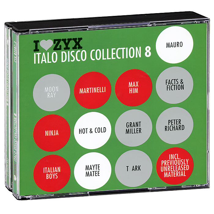 Ninja,Martinelli,Мэйти Мате,Italian Boys,Johnny M,Shipra,Грант Миллер Italo Disco Collection 8 (3 CD)