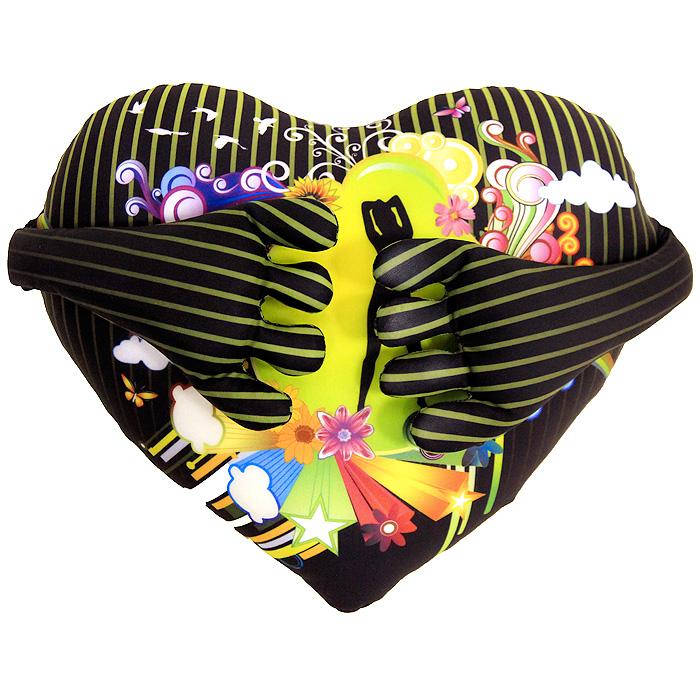 Подушка-антистресс Сердце с ручками, 28 см05532-501Подушка-антистресс Сердце с ручками, выполненная в виде полосатого сердечка с ярким рисунком и ручками, привлечет внимание каждого и станет отличным подарком. Сзади на голове имеется змейка.Главное достоинство подушки - это осязательный массаж, приятный, полезный и антидепрессивный. Внешний материал - гладкий, эластичный и прочный трикотаж. Наполнитель: гранулы полистирола - крохотные шарики диаметром меньше миллиметра. Характеристики:Размер:28 см x 24 см x 8 см. Материал: полиэстер. Наполнитель: вспененный полистирол. Изготовитель: Китай.