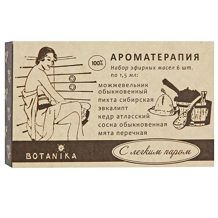 Набор эфирных масел Botanika С легким паром, 6x1,5 мл набор масел для бани главбаня 3х17 мл лимон сосна эвкалипт