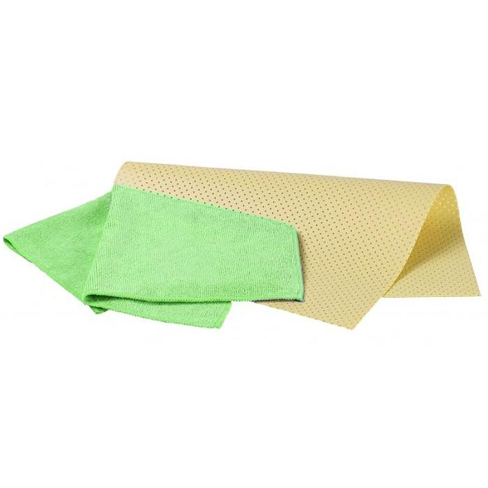 Набор салфеток для ухода за автомобилем Pingo, цвет: желтый, зеленый, 2 штRC-100BWCНабор Pingo включает две салфетки из синтетической замши и микрофибры. Салфетка из синтетической замши идеально подходит для протирки мокрых лакокрасочных и хромированных поверхностей, стекол и поверхностей из искусственных материалов, для чистки приборной панели автомобиля. Махровая салфетка из микрофибры предназначена для полировки кузова автомобиля, для чистки лобового стекла, пластика и хрома, обивки сидений, для влажной и сухой уборки. Изделия отлично впитывают влагу, быстро и эффективно удаляют пыль и грязь. Могут применяться без использования дополнительных чистящих средств.Материалы: 80% вискоза, 20% пропилен; 70% полиэстер, 30% полиамид.Размер салфеток: 40 х 30 см; 32 х 32 см.