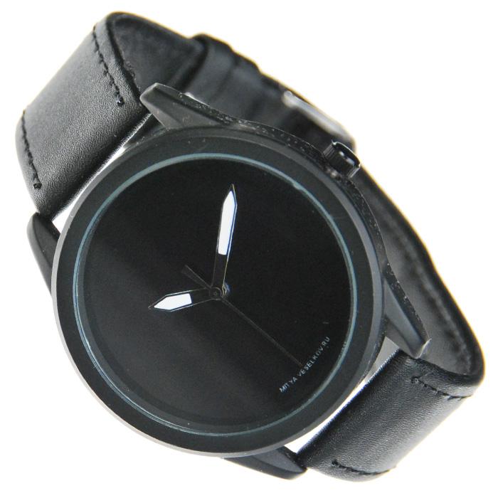 Часы Mitya Veselkov Черные на черном. MVBlack-10