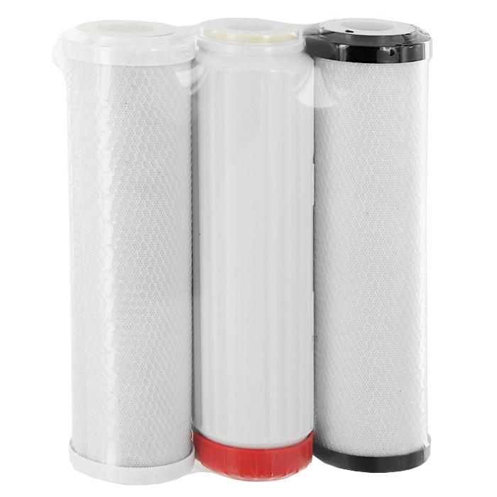 Сменные умягчающие картриджи Аквафор В510-03-04-07, 3 штBL505Комплект сменных модулей Аквафор В510-03-04-07 предназначен для очистки и умягчения водопроводной воды в водоочистителе Аквафор Трио умягчающий или в других бытовых водоочистителях аналогичной конструкции.В комплект входят модули: В510-03 (цвет фланца - черный), В510-04 (цвет фланца - красный) и В510-07 (цвет фланца - белый). Аквафор В510-03 - универсальный модуль для глубокой очистки воды. Модуль изготовлен по технологии карбонблок из высокоэффективных гранулированных и волокнистых сорбционных материалов. Аквафор В510-04, содержащий большее количество ионообменной смолы используется как универсальный модуль для снижения жесткости воды. Аквафор В510-07 - универсальный модуль для тонкой финишной очистки воды. Модуль изготовлен по технологии карбон-блок из высокоэффективных гранулированных и волокнистыхсорбционных материалов. Компания Аквафор создавалась как высокотехнологическая производственная фирма, охватывающая все стадии создания продукции от научных и конструкторских разработок до изготовления конечной продукции. Основное правило Аквафора - стабильно высокое качество продукции и высокие технологии, поэтому техническое обновление производства происходит каждые 3-4 года, для чего покупаются новые модели машин и аппаратов.Собственное производство уникальных сорбентов и постоянный контроль на всех этапах производства позволяют Аквафору выпускать высококачественный продукт, известность которого на рынке быстро растeт.Ресурс: от 200 до 6000 литров (в зависимости от жесткости воды).Рекомендуемая скорость фильтрации: 2 л/мин.