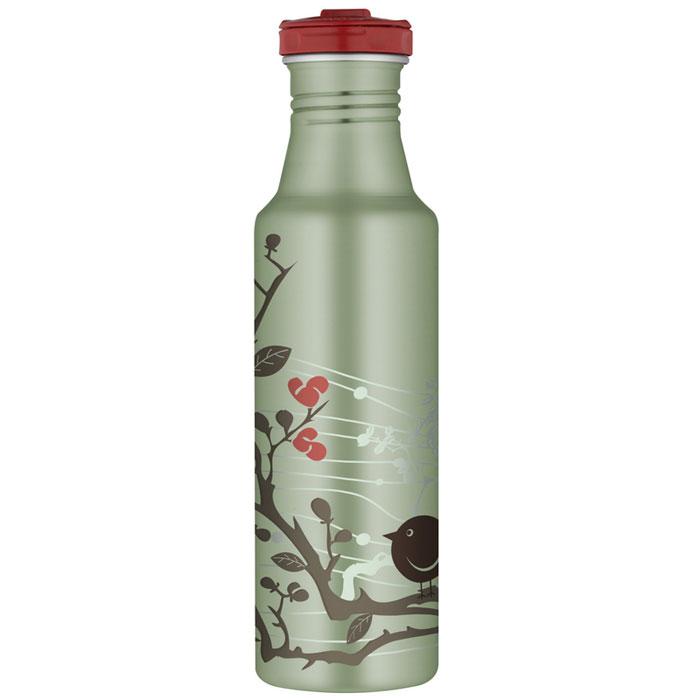Фляжка Roho для напитков, цвет: зеленый, 700 мл67742Практичная и удобная фляжка Roho прекрасно подойдет для транспортировки различных напитков. Она будет незаменим во время путешествий, поездок на пикник или на дачу. Особенности фляжки Roho: изготовлена из высококачественной нержавеющей стали, с одной стенкой пластиковые детали не содержат Бисфенол А завинчивающаяся крышка с защитой от протекания позволяет открывать фляжку одной рукой, нажав кнопку специальное пластиковое кольцо, расположенное на крышке, делает удобной переноску фляжки широкое горлышко подходит для кусочков льда, а также делает более легкой чистку изделия благодаря эргономичному дизайну корпуса фляжки, ее удобно держать в руке фляжка достаточно высокая, что не дает руке замерзнуть стильное оформление корпуса можно безопасно мыть в посудомоечной машине. Характеристики:Материал: нержавеющая сталь, пластик, силикон. Объем фляжки: 700 мл. Высота фляжки (с учетом крышки): 25 см. Диаметр основания фляжки:6,5 см. Цвет:зеленый. Производитель:Китай. Артикул:101105.