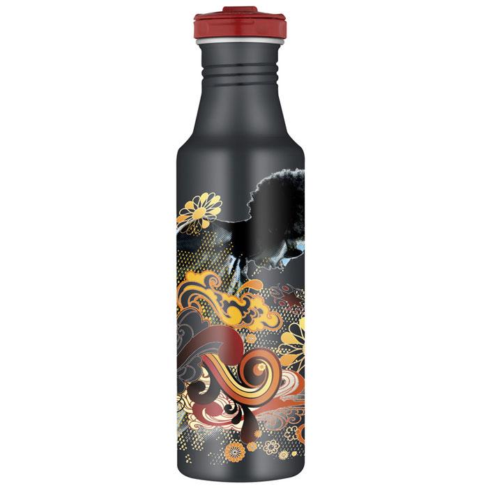 Фляжка Roho для напитков, цвет: черный, 700 мл. 101310101310Практичная и удобная фляжка Roho прекрасно подойдет для транспортировки различных напитков. Она будет незаменим во время путешествий, поездок на пикник или на дачу. Особенности фляжки Roho: изготовлена из высококачественной нержавеющей стали, с одной стенкой пластиковые детали не содержат Бисфенол А завинчивающаяся крышка с защитой от протекания позволяет открывать фляжку одной рукой, нажав кнопку специальное пластиковое кольцо, расположенное на крышке, делает удобной переноску фляжки широкое горлышко подходит для кусочков льда, а также делает более легкой чистку изделия благодаря эргономичному дизайну корпуса фляжки, ее удобно держать в руке фляжка достаточно высокая, что не дает руке замерзнуть стильное оформление корпуса можно безопасно мыть в посудомоечной машине. Характеристики:Материал: нержавеющая сталь, пластик, силикон. Объем фляжки: 700 мл. Высота фляжки (с учетом крышки): 25 см. Диаметр основания фляжки:6,5 см. Цвет:черный. Производитель:Китай. Артикул:101310.
