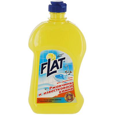 Гель Flat для удаления ржавчины и известкового камня, с ароматом лимона, 500 г68/5/3Гель Flat эффективно удаляет известковый налет, ржавчину, а также жировые пятна, мыльные осадки и другие загрязнения. Вязкая консистенция средства позволяет использовать его на вертикальных и труднодоступных поверхностях. Подходит для чистки унитазов, раковин, хромированных поверхностей. Обладает приятным ароматом лимона.Способ применения: С помощью губки или непосредственно из флакона тонким слоем нанести средство на очищаемую поверхность, выдержать 10-15 минут, потереть губкой или щеткой, тщательно смыть водой. Характеристики:Вес: 500 г. Производитель: Россия.Товар сертифицирован.