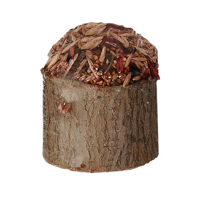 Лакомство для мелких грызунов Triol Криспи, в пеньке, с фруктами, 70 г0120710Питательное лакомство для грызунов Triol Криспи с медом и фруктами порадует морскую свинку, хомячка или шиншиллу, крысу или мышку и разнообразит их ежедневный рацион. Содержит высококачественные злаки, сухофрукты, ароматные луговые травы, обогащено витаминами для здоровья и жизненного тонуса. Лакомство находится внутри пенька из натурального дерева лиственных пород. После того, как оно будет съедено, пенечек можно оставить как украшение, использовать как кормушку или его можно использовать просто для стачивания зубов.Состав: ячмень, овес, семя подсолнуха, арахис, мед,сухофрукты, просо, луговые травы, йод в легко усвояемой форме, витамины А, В, В2, D, PP, пшеница, пищевые скрепляющие добавки, дерево.Вес: 70 г.Товар сертифицирован.Уважаемые клиенты! Обращаем ваше внимание на возможные изменения в дизайне упаковки. Качественные характеристики товара остаются неизменными. Поставка осуществляется в зависимости от наличия на складе.