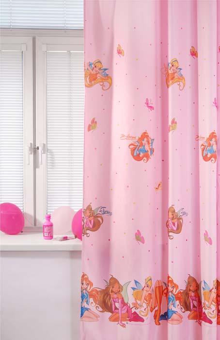 Портьера ТАС Winx, цвет: розовый, 200 см х 265 см tac портьера детская 200см х 265см персиковый