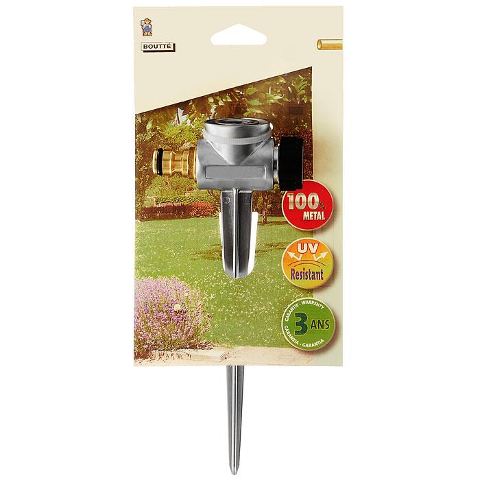 Колышек поливочный Boutte, 1/2106-026Поливочный колышек Boutte, выполненный из высококачественного металла, является креплением для насадок для полива садового участка. Благодаря такому приспособлению вы сможете установить дождеватель в любом удобном месте и обеспечите равномерный полив растений.Характеристики:Материал:металл, пластик Высота колышка:22 см. Резьба:1/2. Производитель:Франция. Артикул: 103973.