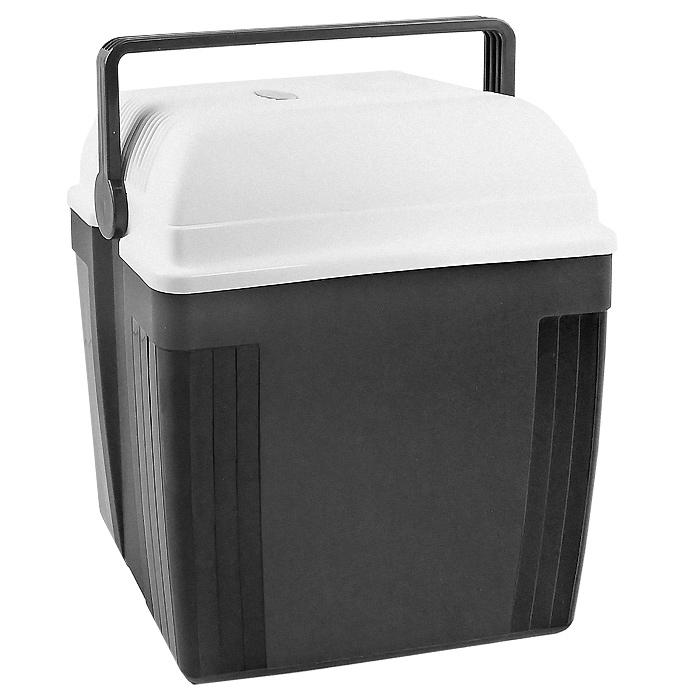 Автомобильный холодильник Ezetil TurboFridge E 27 S, цвет: серый, 27 л10776085Малогабаритный электрический холодильник Ezetil TurboFridge E 27 S предназначен для хранения и транспортировки продуктов и напитков. Контейнер удобно использовать в салоне автомобиля в качестве портативного холодильника. Он легко поместится в любой машине! Особенности автомобильного холодильника Ezetil TurboFridge E 27 S: выполнен из прочного пластика высокого качества работает от 12 В прикуривателя, 220 В сети переменного токаможет быть использован как для охлаждения, так и для нагревафункцию устройства можно установить с помощью переключателя, расположенного на крышке внутри контейнера имеется вместительный отсек для хранения продуктов и напитков подходит для хранения 1,5-литровых бутылок в вертикальном положении встроенный вентилятор, изоляция из пеноматериала и отсек для хранения шнура питания и штепсельной вилки (12 В) вмонтирован в крышку дополнительный внутренний вентилятор в холодильной камере обеспечивает быстрое и равномерное охлаждение мощная, не нуждающаяся в техобслуживании охлаждающая система Peltier гарантирует оптимальную производительность по холоду работает под любым углом наклона для удобной переноски автомобильный холодильник снабжен надежной пластиковой ручкой.Такой компактный и вместительный холодильник послужит отличным аксессуаром для вашего автомобиля! Характеристики:Материал: пластик, металл, пеноматериал. Объем холодильника:27 л. Размер холодильника (В х Ш х Д):44 см х 28 см х 38 см. Цвет:серый, белый. Размер упаковки:39 см х 45 см х 29 см. Производитель:Германия. Изготовитель:Китай. Гарантия производителя: 2 года. Артикул:10776085. Прилагается инструкция по эксплуатации на нескольких языках, в том числе на русском языке.