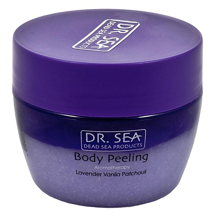 Пилинг для тела Dr. Sea ароматический, с маслами лаванды, ванили и пачули, 320 млFS-00897Солевой пилинг для тела Dr. Sea, представляет собой сочетание ароматических масел с гранулами соли Мертвого моря. Нежно очищает поверхность кожи от ороговевших частиц, способствует регенерации кожи, делает ее эластичной и упругой. Идеально подходит как средство против целлюлита, а также для программы похудения. Рекомендуется использовать в бане и сауне.Способ применения: нанесите смесь пилинга с маслами на чистую, предварительно увлажненную кожу тела массажными круговыми движениями, уделяя особое внимание проблемным зонам. Тщательно смойте теплой водой через 5-10 минут. Рекомендуется использовать 1-2 раза в неделю.Основу косметики Dr. Sea составляют минералы, грязи и органические вытяжки Мертвого моря, а также натуральные растительные экстракты. Косметические средства Dr. Sea разрабатываются и производятся исключительно на территории Израиля в новейших технологических условиях, позволяющих максимально раскрыть и сохранить целебные свойства природных компонентов. Ни в одном из препаратов не содержится парааминобензойная кислота (так называемый парабен), а в составе шампуней и гелей для душа не используется Sodium Lauryl Sulfate. Уникальность минеральной косметики Dr. Sea состоит в том, что все компоненты, входящие в рецептуру, натуральные. Сочетание минералов, грязи, соли и других натуральных составляющих, усиливают целебное действие и не дают побочных эффектов.Характеристики:Объем: 320 мл. Производитель: Израиль. Товар сертифицирован.