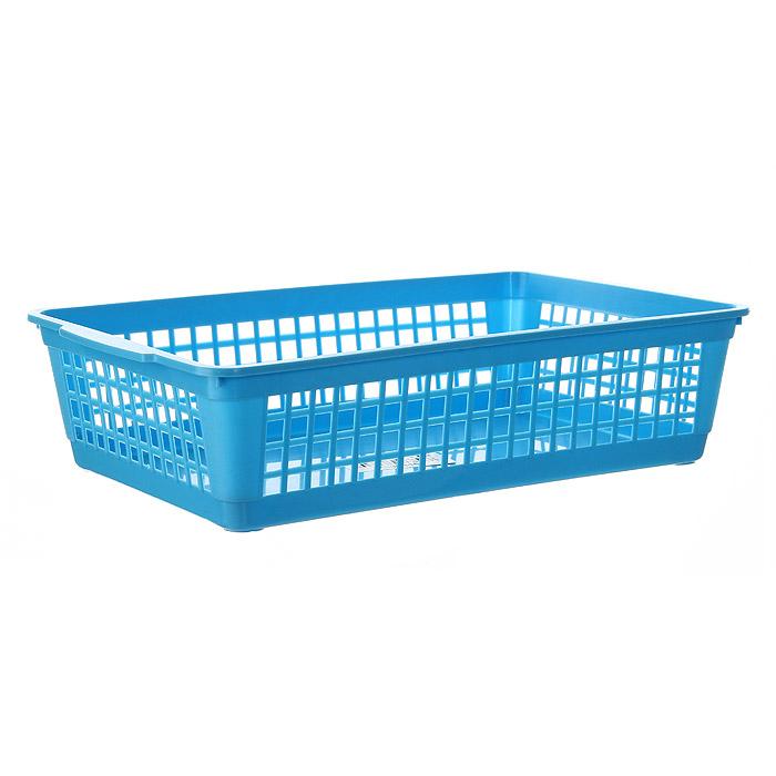 Корзина Gensini, цвет: голубой, 3 л40970Универсальная корзина Gensini, выполненная из высококачественного цветного пластика, предназначена для хранения мелочей в ванной, на кухне, даче или гараже. Позволяет хранить мелкие вещи, исключая возможность их потери. Боковые стенки украшены перфорацией в виде прямоугольников.