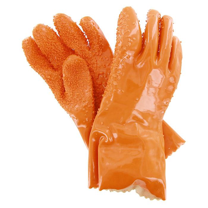 Перчаткидля чистки овощей Bradex Шкурка54 009312Перчатки Bradex Шкурка предназначены для очищения молодых корнеплодов (картофеля, моркови, свеклы и т.д.). Перчатки выполнены из водонепроницаемого материала и имеют особую абразивную поверхность, которая с легкостью снимает верхний слой кожицы с овоща. Всего за несколько секунд, не испачкав и не поранив руки, вы очистите овощи и сможете приступить непосредственно к приготовлению блюда.Перчатки Bradex Шкурка особенно подойдут для жизни в дачных условиях, где иногда требуется почистить овощи быстро и без использования горячей воды. Перчатки имеют универсальный размер и подойдут под любой размер кисти. Характеристики: Материал: резина, абразив. Размер перчатки:26 см x 12 см x 1 см. Размер упаковки:21 см x 18 см x 6 см. Производитель:Китай. Артикул:TD 0005.