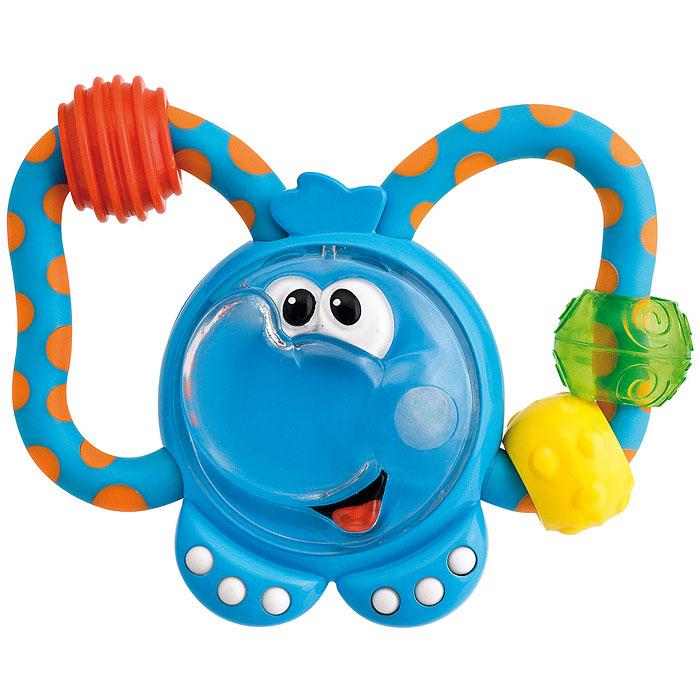 """Игрушка-погремушка """"Слоненок"""" выполнена в виде симпатичного слоника. Игрушка имеет удобную для ручек ребенка форму. Яркий дизайн погремушки способствует развитию цветового восприятия, зрения и слуха, а также концентрации внимания. Игрушка-погремушка развивает мелкую моторику и контролируемые хватательные движения. Благодаря сочетанию различных по фактуре деталей, игрушка-погремушка """"Слоненок"""" может использоваться в качестве прорезывателя."""