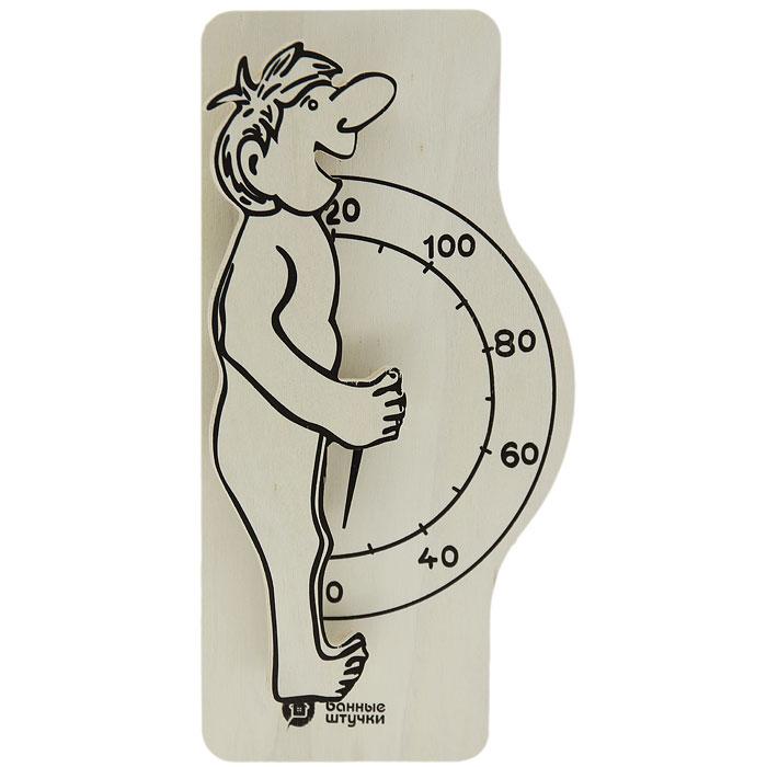 Термометр для бани и сауны Банщик1004900000360Термометр для бани и сауны Банщик, выполненный из дерева, покажет температуру и не останется незамеченным для посетителей бани. Термометр декорирован фигуркой мужчины. Максимальная измеряемая температура - 120°C. С термометром для бани и сауны Банщик вы сможете контролировать температуру и наслаждаться отдыхом. Характеристики:Материал: дерево, металл. Размер термометра: 12,5 см х 25 см х 3,5 см. Размер упаковки: 31 см х 13 см х 4 см. Изготовитель: Китай. Артикул: 18006.