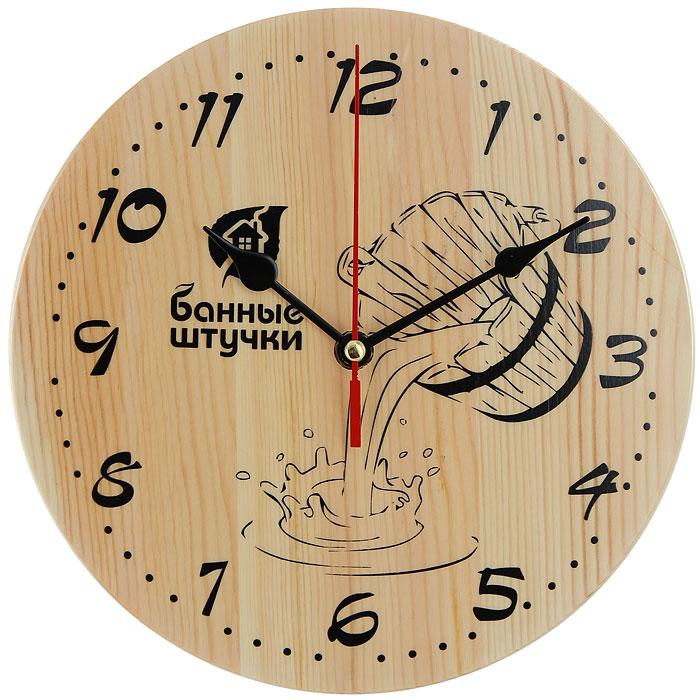 Часы в предбанник Банные штучки. 18039300173Часы Банные штучки выполнены из дерева, поэтому они отлично подойдут для использования в бане и сауне. Часы не боятся высоких температур и влажности. Благодаря таким часам вы сможете правильно определить длительность процедур. Часы имеют три стрелки: часовую, минутную и секундную. Они имеют кварцевый механизм и работают от одной батарейки. Деревянные часы станут прекрасным аксессуаром, а их дизайн поможет выдержать стиль традиционной бани. Характеристики:Материал: дерево, пластик, металл. Размер:19,5 см х 19,5 см х 2 см. Размер упаковки:24 см х 20 см х 3,5 см. Изготовитель:Китай. Артикул:18039. Работают от 1 батарейки мощностью 1,5 V типа АА (не входит в комплект).