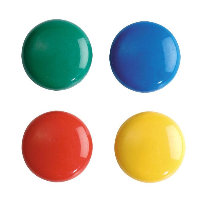 """Яркие цветные магниты """"Erich Krause"""" помогут не только надежно прикрепить листы бумаги к любой железной или стальной поверхности, но и расставить акценты, выделить важную информацию при проведении семинаров, мозговых штурмов или презентаций. В наборе магниты красного, синего, желтого и зеленого цветов."""