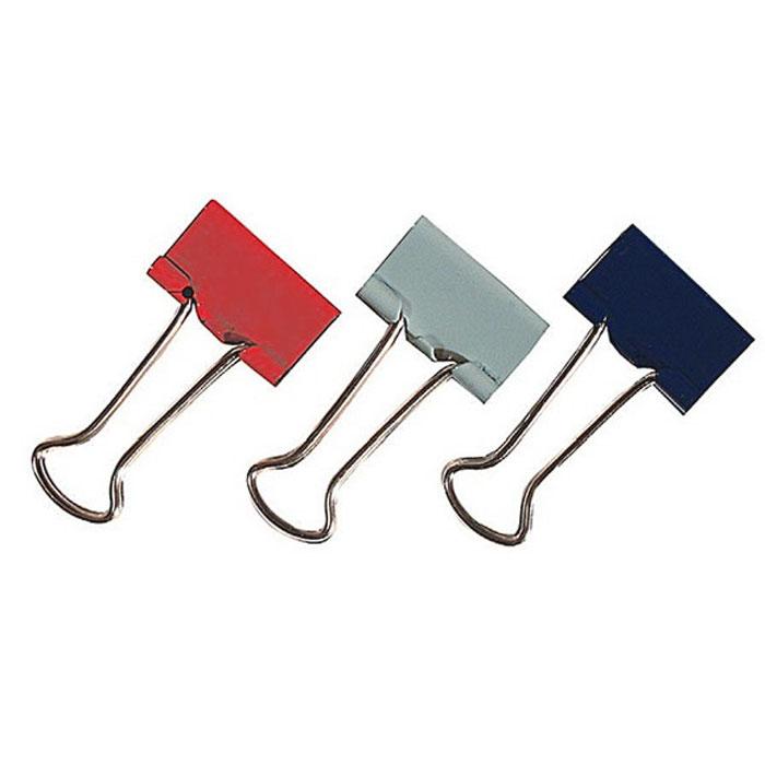 """Металлические зажимы """"Erich Krause"""" серого, красного и синего цветов предназначены для временного скрепления до 110 листов стандартной бумаги. Зажимы для бумаг не мнут документы, не оставляют следов, имеют удобные ушки."""
