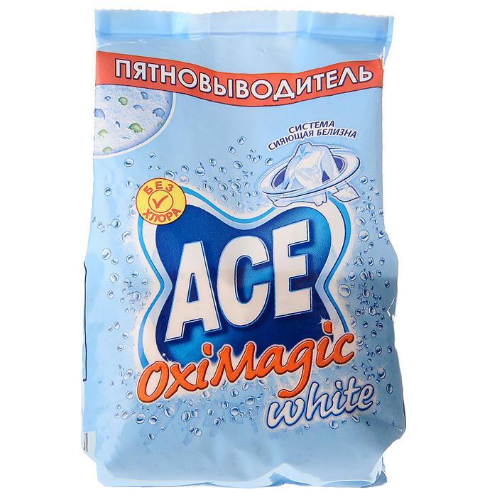 Пятновыводитель Ace Oxi Magic White, 200 г124029Пятновыводитель Ace Oxi Magic White предназначен для стирки в автоматических стиральных машинах и ручной стирки. Удаляет трудновыводимые пятна. Подходит для белых и цветных тканей, а также тканей, требующих деликатного ухода (кроме шерсти и шелка). Эффективен уже при 30°C. Не содержит хлора. Характеристики:Вес: 200 г. Изготовитель: Россия.Товар сертифицирован.