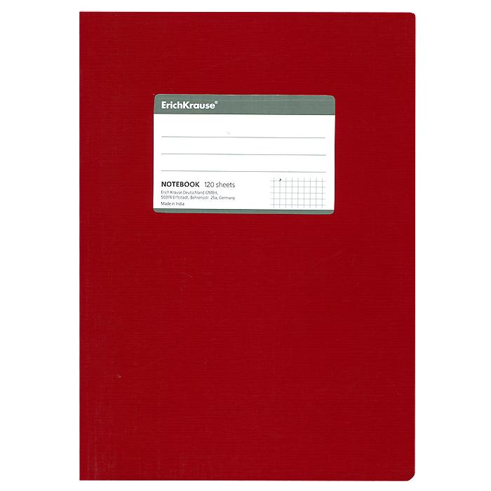 Тетрадь One Color, цвет: красный, 120 листов, В572523WDОбщая тетрадь One Color со скругленными уголками представляет новую линию универсальных общих тетрадей Erich Krause, предназначенных для студентов, учеников старших классов, преподавателей и для всех тех, кому важно записывать и надежно хранить нужную информацию. Яркая красная обложка из ламинированного картона добавит новых ноток в рабочие будни. Внутренний блок выполнен из белой бумаги в серую клетку без полей. На обложке расположена наклейка для подписи тетради. Характеристики:Материал: картон, бумага. Размер тетради: 17 см х 24 см х 1,1 см. Формат: В5. Количество листов: 120. Изготовитель: Индия.