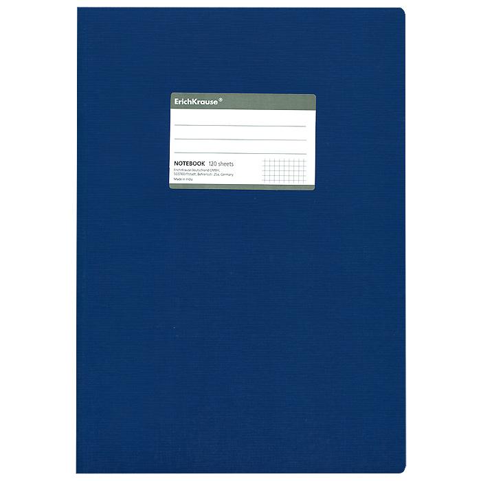 Тетрадь One Color, цвет: синий, 120 листов, А472523WDОбщая тетрадь One Color со скругленными уголками представляет новую линию универсальных общих тетрадей Erich Krause, предназначенных для студентов, учеников старших классов, преподавателей и для всех тех, кому важно записывать и надежно хранить нужную информацию. Обложка, выполненная из ламинированного картона, надежно защитит от влаги и поможет сохранить аккуратный внешний вид тетради. Внутренний блок выполнен из белой бумаги в серую клетку без полей. На обложке расположена наклейка для подписи тетради. Характеристики:Материал: картон, бумага. Размер тетради: 20,7 см х 29,2 см х 1,1 см. Формат: А4. Количество листов: 120. Изготовитель: Индия.