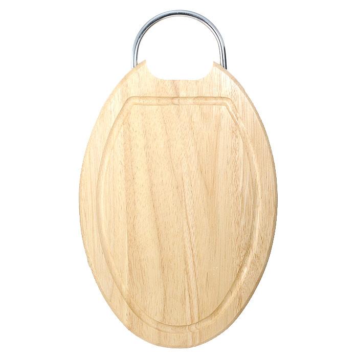 Доска разделочная Oriental way 32,5 х 22,5см 9/905FS-91909Овальная разделочная доска Oriental way с металлической ручкой изготовлена из высококачественной древесины гевеи. Доска имеет углубление для стока жидкости вдоль края. Прекрасно подходит для приготовления и сервировки пищи.Особенности разделочной доски Oriental way: высокое качество шлифовки поверхности изделий, двухслойное покрытие пищевым лаком, безопасным для здоровья человека, степень влажность 8-10%, не трескается и не рассыхается, высокая плотность структуры древесины, устойчива к механическим воздействиям, не предназначена для мытья в посудомоечной машине. Характеристики: Материал: дерево, металл. Размер (без учета ручки): 32,5 см х 22,5 см х 2 см. Производитель: Тайланд. Артикул: 9/905. Торговая марка Oriental way известна на рынке с 1996 года. Эта марка объединяет товары для кухни, изготовленные из дерева и других материалов. Все товары марки Oriental way являются безопасными для здоровья, экологичными, прочными и долговечными в использовании.