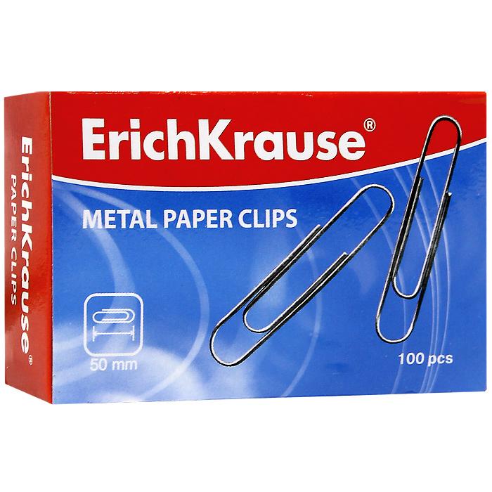 Скрепки металлические Erich Krause, 50 мм, 100 шт. 78577857Скрепки Erich Krause - это универсальный офисный инструмент. Скрепки изготовлены из высококачественной металлической проволоки. Не пачкают и не царапают бумагу.Скрепки Erich Krause обеспечат не только надежное скрепление документов и офисных бумаг, но и добавят ярких красок на ваш рабочий стол. Характеристики:Материал: металл. Размер скрепки: 5 см x 1 см. Количество: 100 шт. Размер упаковки: 8,5 см x 5,5 см x 2,5 см. Изготовитель: Китай.