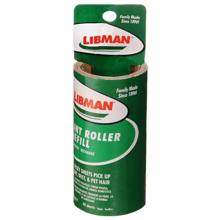 Картридж к роликовой щетке Libman, сменный, 40 липких слоевт0001413Сменный картридж Libman к роликовой щетке для одежды легко надевается на ручку со стержнем. Картридж имеет 40 липких разноцветных лепестков. Благодаря им, щетка очищает от шерсти животных, пыли, мелких волосков одежду, мягкую обивку и другие тканевые поверхности. Липкий слой не высыхает. По мере загрязнения его можно легко удалить. Характеристики: Материал: пластик, бумага. Ширина липкого листа: 10 см. Изготовитель: Китай. Артикул: 00077.Компания Libman основана в 1896 году выходцем из Латвии Вильемом Либманом, задавшимся целью создавать высококачественные и долговечные изделия для уборки - веники, из сельскохозяйственных отходов и стеблей сорго. Унаследовавшие бизнес, сыновья Вильяма Либмана, не только сохранили компанию во время Великой депрессии, но укрепили и расширили ее. В 1980 году были введены новейшие технологии, позволившие компании стать одной из крупнейших в США по производству уборочного инвентаря.На сегодняшний день Libman - это компания с мировым именем, благодаря высокому качеству и разнообразию уборочного инвентаря, признана потребителями всего мира.