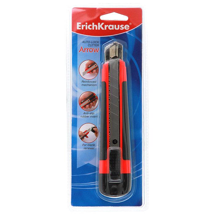 Нож канцелярскийErich Krause Arrow, 16,5 см19152Канцелярский нож Erich Krause Arrow предназначен для работы с бумагой, плотным картоном, пленкой и т.д. Корпус ножа выполнен из пластика с боковыми противоскользящими резиновыми вставками. Выдвижное 8-секционное лезвие изготовлено из высококачественной армированной стали. Металлические направляющие исключают перекос и выпадение лезвия в процессе интенсивного использования. В корпус встроена специальная насадка для удаления затупившихся сегментов лезвия. Нож оснащен плоским ручным фиксатором и системой блокировки лезвия Auto-Lock.Комплект включает 2 дополнительных лезвия. Характеристики:Материал: сталь, пластик, резина. Размер ножа: 16,5 см x 3,5 см x 2 см. Ширина лезвия: 1,8 см. Длина лезвия: 10 см. Размер упаковки: 23 см x 9 см x 2,5 см. Изготовитель: Китай. Брэнд Erich Krause - это полный ассортимент канцтоваров для офиса и школы, который гарантирует безукоризненное исполнение разных задач в процессе работы или учебы, органично и естественно сопровождает вас день за днем. Для миллионов покупателей во всем мире продукция Erich Krause стала верным и надежным союзником в реализации любых проектов и самых амбициозных планов. Компания Erich Krause имеет плодотворную историю сотрудничества с компаниями Walt Disney, Warner Brothers, Universal, Dream Works, Fox Kids, благодаря чему активно развивается еще одно направление - создание школьной лицензионной продукции Erich Krause с имиджами из популярных фильмов (Winnie The Pooh, Mickey Mouse, Power Rangers, Witch, Fairies и др.) Канцелярские товары под маркой Erich Krause знают и покупают во многих странах мира: в Алжире, Болгарии, Румынии, России, Франции, Испании, Португалии, Марокко, Мексики, Эквадоре, Прибалтике, странах СНГ и т.д. Высококвалифицированные специалисты Erich Krause прилагают все свои усилия, что бы каждый продукт компании прослужил максимально долго и неизменно радовал покупателей удобством и легкостью использования, надежностью в эксплуатации и прекрасным д