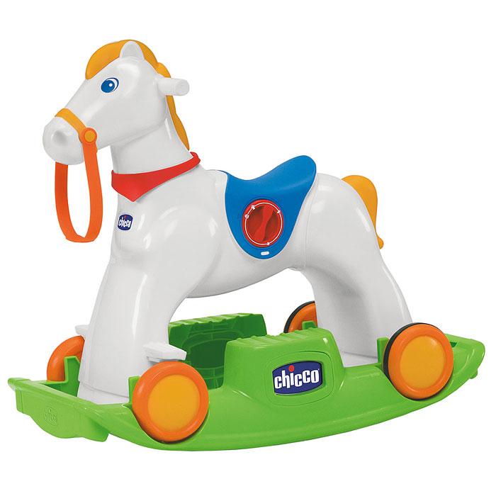 """Яркая лошадка-качалка """"Rodeo"""" привлечет внимание малыша и не оставит его равнодушным. Качалка выполнена в виде очаровательной лошадки. Лошадка легко может стоять как на колесах, так и на качающимся основании, а если ваш малыш готов стать настоящим наездником - ему стоит, лишь попрыгать в седле и лошадка при помощи амортизаторов начнет настоящие скачки. Лощадка-качалка сконструирована с учетом создания максимального комфорта малышу: удобные ручки и сиденье, выступы для ножек на качающимся основании. А чтобы веселее было качаться, достаточно нажать на кнопку, и тогда малыш услышит стук копыт и звуки ржания. Лошадка-качалка оснащена уникальной системой """"Easy Ride"""", которая позволяет подстроить ноги лошади, когда ребенок """"скачет галопом"""" в зависимости от силы и веса ребенка. Эту функцию можно заблокировать, используя блокирующую настройку и тогда лошадку можно использовать как качалку. Лошадка-качалка стимулирует моторные навыки малыша и воображение."""