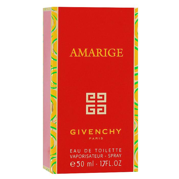 Givenchy Amarige. Туалетная вода, 50 млL1155700Аромат Givenchy Amarige теплый, нежный, женственный, интенсивный и стойкий. Это гимн любви и счастья, радости и благополучия. Теплые и нежные ноты нероли и розового дерева гармонично сочетаются с женственными ароматами цветов. Amarige - аромат, созданный для искренних, открытых и жизнерадостных женщин, фантазия и юмор которых ярко выражают их любовь к жизни.Классификация аромата: цветочный. Пирамида аромата:Верхние ноты: фиалка, слива, цветок апельсина и персик.Ноты сердца: жасмин, черная смородина, иланг-иланг и тубероза.Ноты шлейфа: ваниль, сандал и мускус. Ключевые слова:Женственный, яркий, элегантный! Характеристики:Объем: 50 мл. Производитель: Франция. Туалетная вода - один из самых популярных видов парфюмерной продукции. Туалетная вода содержит 4-10%парфюмерного экстракта. Главные достоинства данного типа продукции заключаются в доступной цене, разнообразии форматов (как правило, 30, 50, 75, 100 мл), удобстве использования (чаще всего - спрей). Идеальна для дневного использования. Товар сертифицирован.