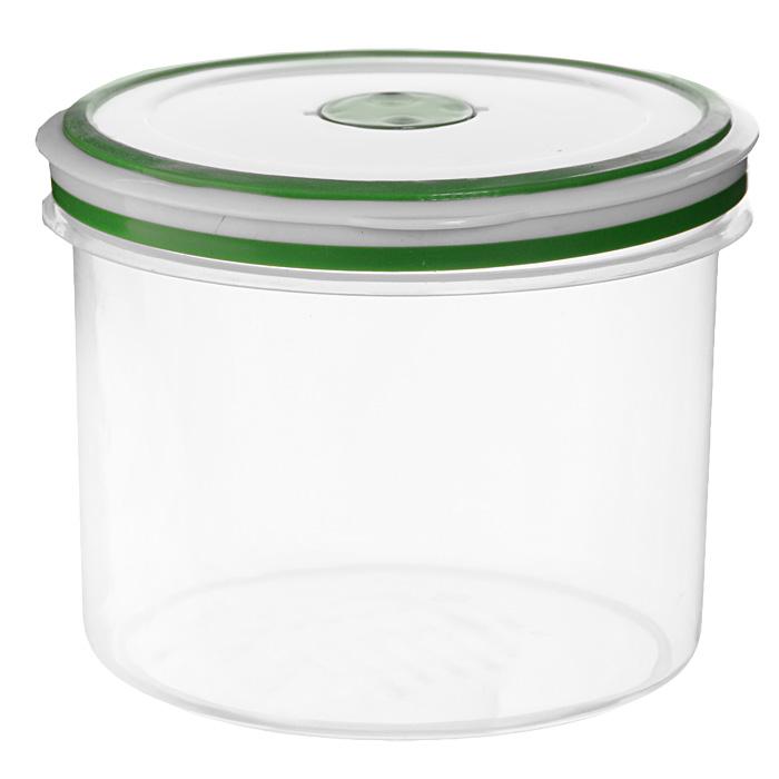 Контейнер для СВЧ NeoWay Simple control круглый, 1,1 л470018Круглый контейнер для СВЧ NeoWay Simple control выполнен из сочетания твердого и мягкого пластика, абсолютно безопасного для использования с пищевыми продуктами. Контейнер имеет инновационную крышку, обеспечивающую абсолютную герметичность и водонепроницаемость, не пропускает влагу и запахи, долго сохраняет свежесть продуктов. На крышке есть клапан для выпуска пара и антискользящие вставки для устойчивого вертикального хранения.Контейнер подойдет не только для разогревания продуктов в печи СВЧ, но и для хранения продуктов, в том числе в холодильной и морозильной камерах. Контейнер выдерживает температуру в диапазоне от -20°C до +120°, его можно мыть в посудомоечной машине и нельзя греть пустым и в режиме гриль. Характеристики:Материал: полипропилен. Объем контейнера: 1,1 л. Диаметр контейнера: 13 см. Высота контейнера (без учета крышки): 10,5 см. Производитель: Китай. Артикул: GL9057.