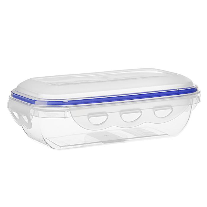 Контейнер для СВЧ NeoWay Enjoy прямоугольный, 0,58 лFS-91909Прямоугольный контейнер для СВЧ NeoWay Enjoy, выполненный из высококачественного пластика, это удобная и легкая тара для хранения и транспортировки бутербродов, порционных салатов, мяса или рыбы, горячих и холодных блюд, даже жидких продуктов. Контейнер 100% герметичен. Крышка оснащена четырьмя специальными защелками и силиконовым уплотнителем. Клипсы (защелки) позволяют произвести защелкивание более чем 400000 раз. Пустотелый силиконовый уплотнитель имеет большую гибкость и лучшее прилегание. Контейнеры могут быть вставлены один в другой, что позволяет сэкономить много пространства. Контейнер для СВЧ NeoWay Enjoy выдерживает температуру в диапазоне от -20°C до +120°C, его можно мыть в посудомоечной машине и нельзя нагревать пустым. Характеристики:Материал: пластик. Объем контейнера: 0,58 л. Размер контейнера: 18,5 см х 11 см. Высота контейнера (без учета крышки): 4,6 см. Производитель: Китай. Артикул: CP1021A.