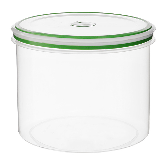 Контейнер для СВЧ NeoWay Simple control круглый, 2,4 лFS-91909Круглый контейнер для СВЧ NeoWay Simple control выполнен из сочетания твердого и мягкого пластика, абсолютно безопасного для использования с пищевыми продуктами. Контейнер имеет инновационную крышку, обеспечивающую абсолютную герметичность и водонепроницаемость, не пропускает влагу и запахи, долго сохраняет свежесть продуктов. На крышке есть клапан для выпуска пара и антискользящие вставки для устойчивого вертикального хранения.Контейнер подойдет не только для разогревания продуктов в печи СВЧ, но и для хранения продуктов, в том числе в холодильной и морозильной камерах. Контейнер выдерживает температуру в диапазоне от -20°C до +120°, его можно мыть в посудомоечной машине и нельзя греть пустым и в режиме гриль. Характеристики:Материал: полипропилен. Объем контейнера: 2,4 л. Диаметр контейнера: 17 см. Высота контейнера (без учета крышки): 13,7 см. Производитель: Китай. Артикул: GL9055.