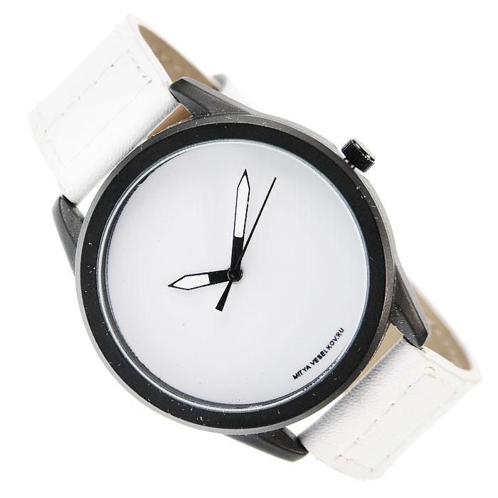 Часы Mitya Veselkov Белые на белом. MVBlack-29EQW-M710DB-1A1Наручные дизайнерские часы Mitya Veselkov Белое на белом ручной сборки созданы для современных людей. Часы оснащены японским кварцевым механизмом. Ремешок выполнен из натуральной кожи белого цвета, корпус изготовлен из металлического сплава с PVD покрытием. Циферблат белого цвета защищен минеральным стеклом. Часы размещаются на специальной подушечке и упакованы в фирменный стакан Mitya Veselkov. Характеристики: Материал: натуральная кожа, сплав металла. Стекло: минеральное. Механизм: Citizen. Длина ремешка (с корпусом): 23,5 см. Ширина ремешка: 2 см. Диаметр корпуса: 3,7 см. Размер упаковки: 8,5 см х 8,5 см х 6,5 см. Артикул: MVBlack-29. Производитель: Россия. Идея компании Mitya Veselkov возникла совершенно случайно. Просто один творческий человек и талантливый организатор решил делать людям необычные часы. Затем родилась идея открыть магазин и дать другим людям возможность приобретения этого красивого продукта. Теперь Mitya Veselkov - перспективный коммерческий проект, создающий не только часы, но и сумки, подушки, футболки и даже запонки. Часы, вещи и сувениры от Mitya Veselkov - это вещи с изюминкой, которые ценны своим оригинальным дизайном.