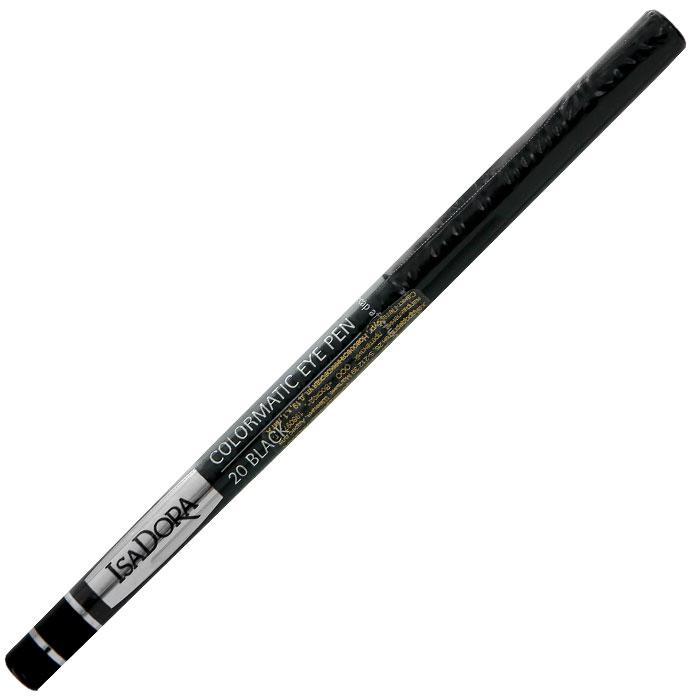 Карандаш для глаз Isa Dora Colormatic, тон №20, цвет: черный, 0,28 гFD020205Придайте выразительности своим глазам с помощью карандаша Isa Dora Colormatic. Насыщенная красящими пигментами, но при этом очень мягкая формула этого водостойкого карандаша позволяет создать четкую линию, которую можно легко растушевать по вашему желанию.Карандаш удобно наносить, а автоматический механизм обеспечивает надежное перемещение грифеля в обоих направлениях. Не требует затачивания. Чтобы слегка заострить или просто обновить стержень, достаточно провести им по бумаге, чтобы сделать его острее. Подходит для людей с чувствительными глазами и носящих контактные линзы. Характеристики:Вес: 0,28 г. Тон: №20 (черный). Производитель: Швеция. Артикул: 113520. Товар сертифицирован.